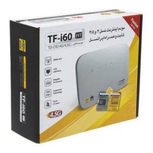 مودم 4G/TD-LTE ایرانسل TF-i60 به همراه بسته 480 گیگ یک ساله